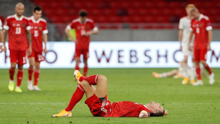 6сентября. Будапешт. Венгрия— Россия— 2:3. Артем Дзюба после матча. Фото Reuters