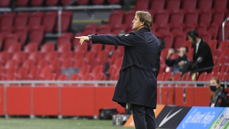 7сентября. Амстердам. Голландия— Италия— 0:1. Роберто Манчини. Фото Reuters
