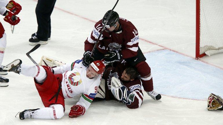 Латвия нехочет проводить ЧМ-2021 совместно сБелоруссией. Фото Reuters
