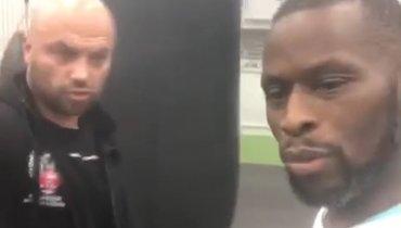 Человек изкоманды Чудинова толкнул тренера Садика вовремя тренировки