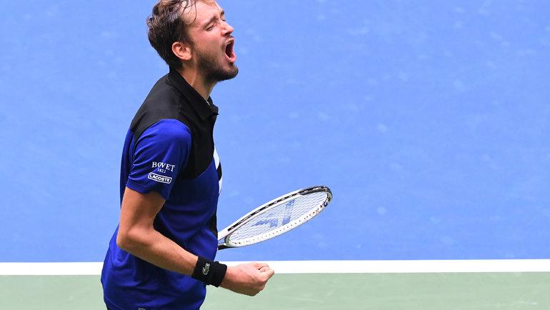 9сентября. Нью-Йорк. Эмоции Даниила Медведева после победы. Фото USA Today Sports