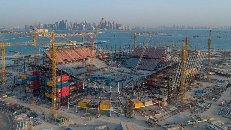Строительство стадиона вКатаре.