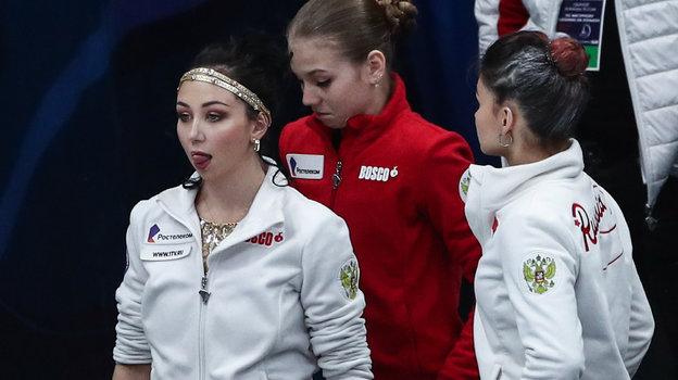 Елизавета Туктамышева, Александра Трусова и Софья Самодурова. Фото «СЭ» / Canon EOS-1D X Mark II