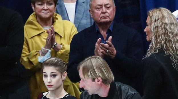 Алена Косторная, Евгений Плющенко, Алексей Мишин и Этери Тутберидзе. Фото «СЭ» / Canon EOS-1D X Mark II