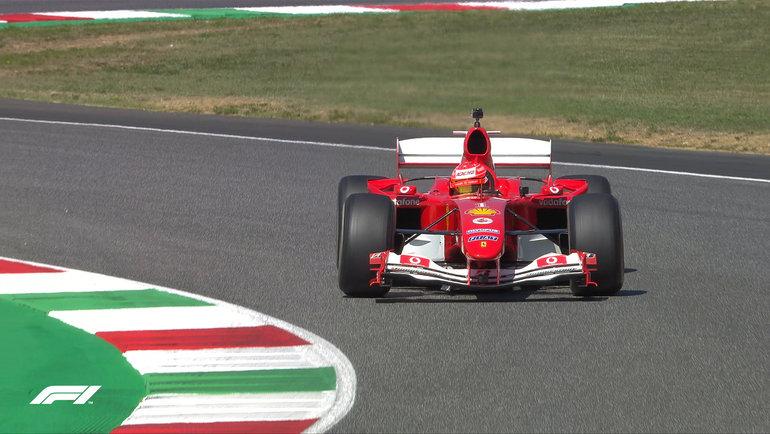 Мик Шумахер зарулем «Феррари» 2004 года. Фото «Формула-1»