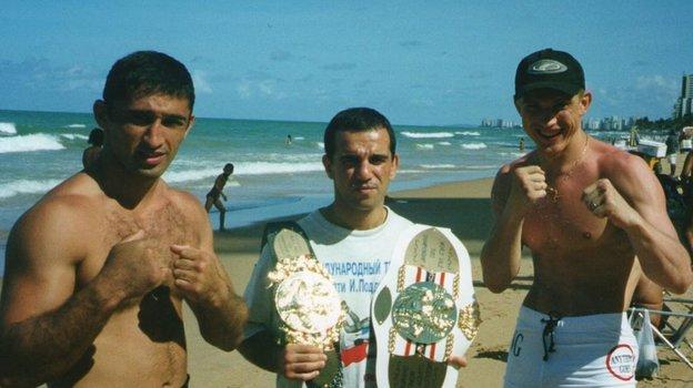 2000 год, Бразилия. Амар Сулоев, Андраник Ашугян, Андрей Семенов (слева направо). Фото ИзInstagram Андраника Ашугяна