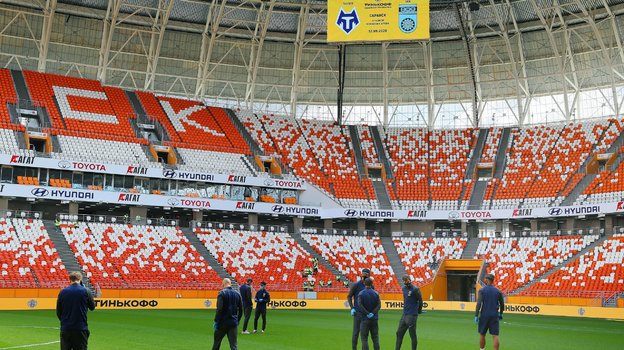 «Тамбов» перед матчем настадионе вСаранске. Фото ФК «Тамбов»