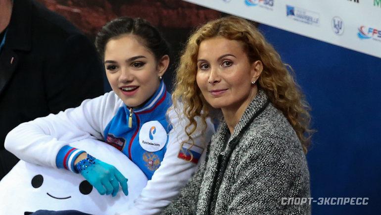 Евгения Медведева иЭтери Тутберидзе. Фото Ксения Нуртдинова