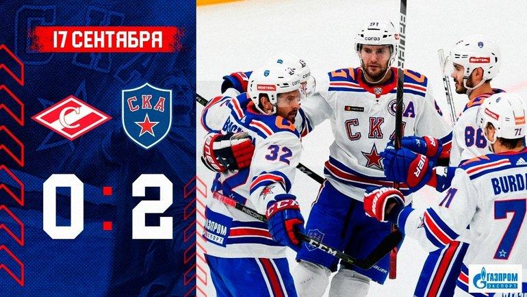 Матч «Спартак»— СКА. Фото ХКСКА