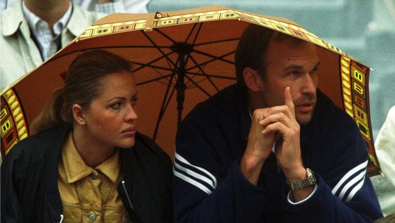 2000 год. Андрей Чесноков иего супруга на «Ролан Гаррос». Фото Андрей Голованов