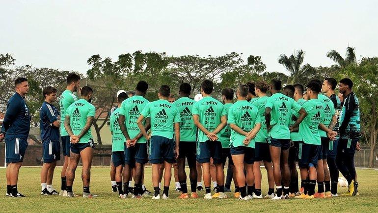 Тренировка «Фламенго». Фото ФК «Фламенго».