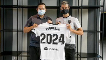 Полузащитник Эскердо продлил контракт с «Валенсией» до2024 года
