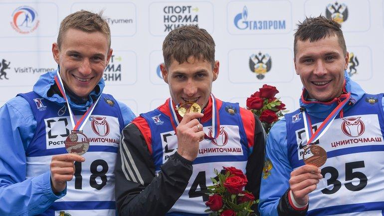 Петр Пащенко (слева), Эдуард Латыпов (вцентре) иМаксим Буртасов. Фото СБР