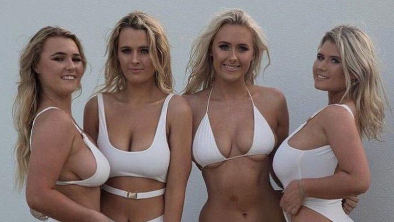Сестры-серфингистски изАвстралии Элли-Джин (вторая справа) иХолли-Дейз Коффи (справа). Фото instagram.com