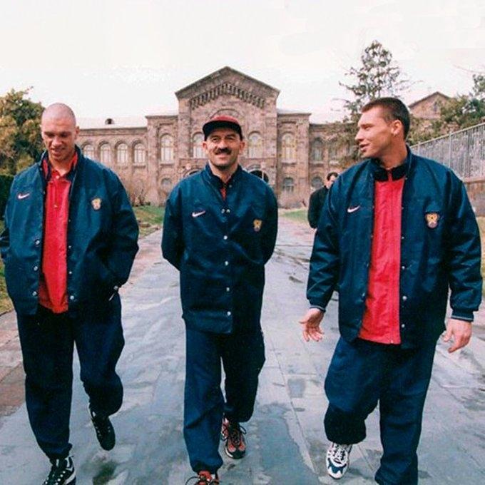 Александр Филимонов, Станислав Черчесов, Сергей Овчинников. Фото сборная России