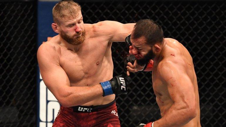 ЯнБлахович нокаутировал Доминика Рейеса натурнире UFC 253. Фото UFC