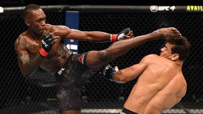 Исраэль Адесанья нокаутировал Пауло Косту натурнире UFC. Фото MMA Fighting