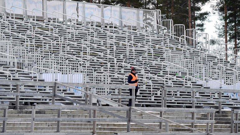 Вмарте этап вКонтиолахти прошел без зрителей. Фото AFP