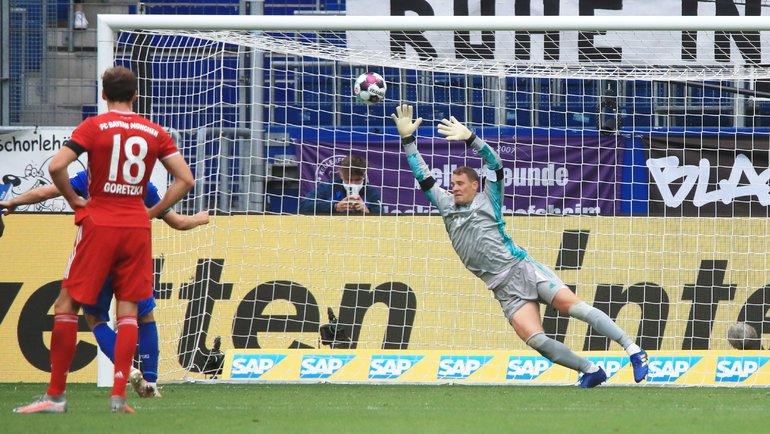 27сентября. Зинсхайм. «Хоффенхайм»— «Бавария»— 4:1. 90+2-я минута. Андрей Крамарич спенальти делает счет разгромным. Фото Reuters