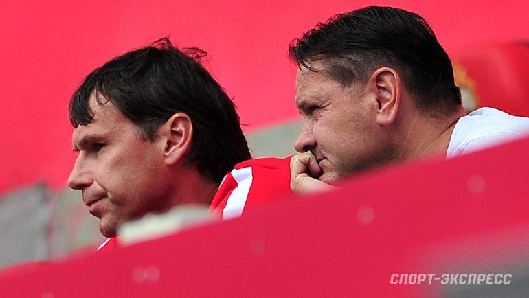 Дмитрий Аленичев (справа) иЕгор Титов. Фото Федор Успенский, «СЭ»
