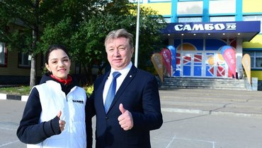 Евгения Медведева идиректор «Самбо-70» Ренат Лайшев.