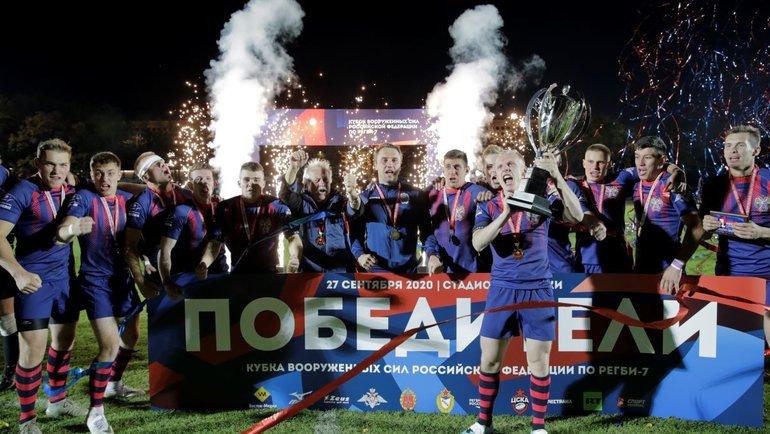 Регбисты изВИФК выиграли трофей второй год подряд.