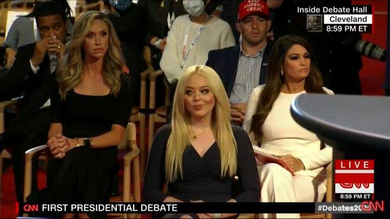 Колби Ковингтон посетил дебаты кандидатов впрезиденты США.