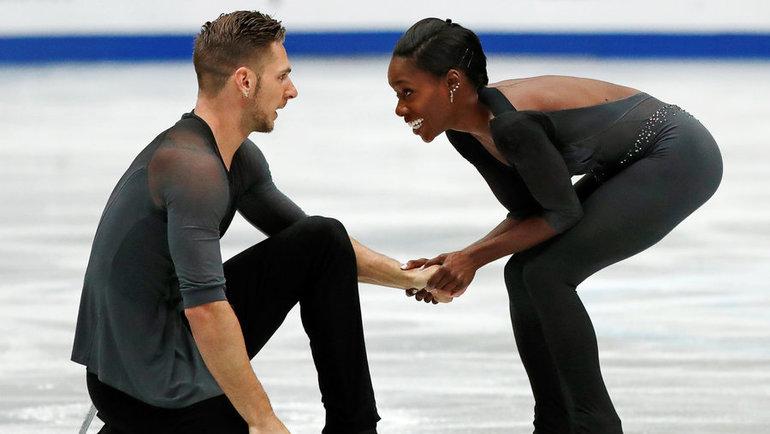 Морган Сипре иВанесса Джеймс. Фото Reuters