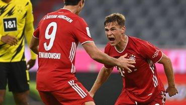 «Бавария» переиграла дортмундскую «Боруссию» иввосьмой раз выиграла Суперкубок Германии