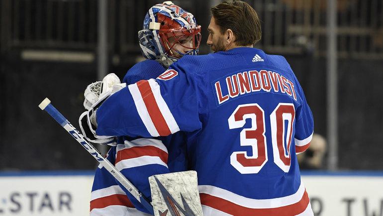 Игорь Шестеркин иХенрик Лундквист. Фото USA Today Sports