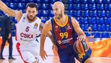 ЦСКА проиграл «Барселоне» впервом матче сезона Евролиги