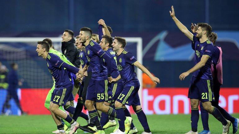 Загребское «Динамо» вЛиге-2019/20 показало себя всложной группе с «Манчестер Сити», «Аталантой» и «Шахтером». Фото AFP