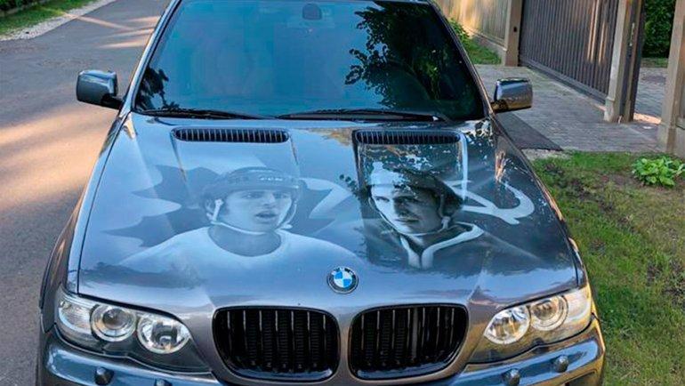 Автомобиль Сергея Гимаева.