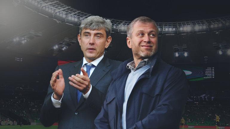 Сергей Галицкий (слева) иРоман Абрамович.