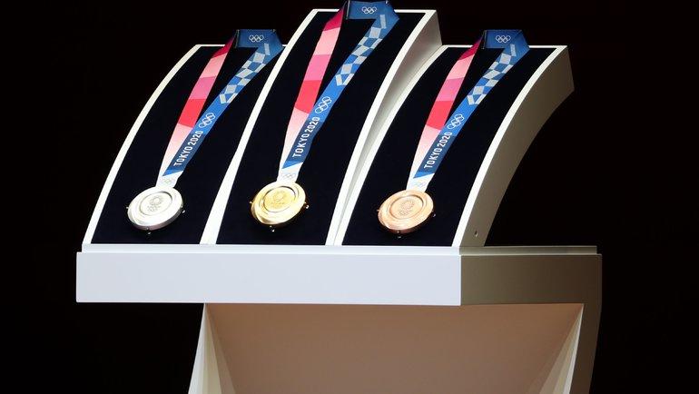 Медали Олимпийских игр вТокио. Фото AFP