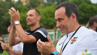 Владелец «Торпедо» Роман Авдеев (справа) иСергей Игнашевич.