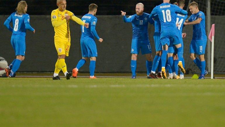 Исландия обыграла Румынию. Фото УЕФА.