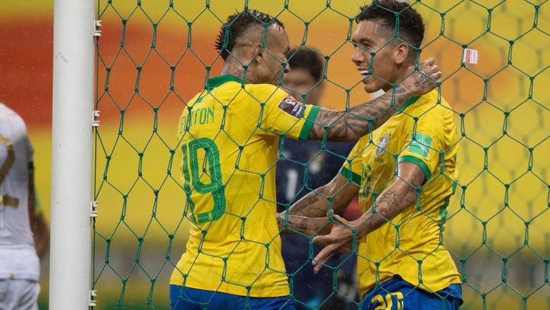 10октября. Бразилия— Боливия— 5:0. Фото Twitter