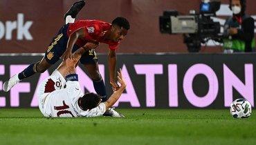 Испания обыграла Швейцарию иупрочила лидерство вгруппе Лиги наций