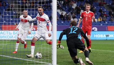 11октября. Москва. Россия— Турция— 1:1. 62-я минута. Гости сравнивают счет.
