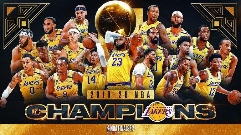 """Лейкерс"" - чемпионы НБА. Фото НБА."
