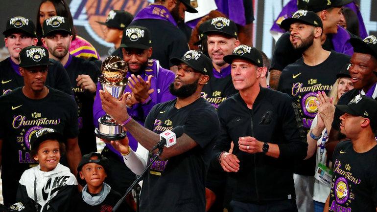 «Лейкерс» вернул себе титул НБА десять лет спустя. Фото USA Today Sports