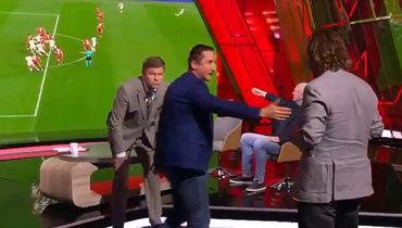 Быстров, Шалимов иМостовой зарубились из-за гола Турции. Кричали друг надруга изащитников сборной России