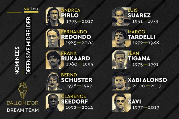 Кандидаты на роль лучшего опорника в истории по версии France Football.
