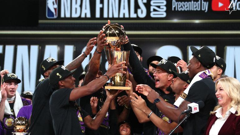 """""""Лейкерс"""" завоевали 17-й чемпионский титул. Фото NBA"""
