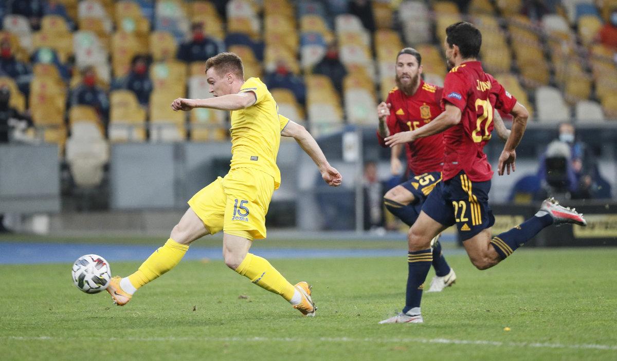 Украина обыграла Испанию. Команда Шевченко может выйти в «Финал четырех» Лиги наций