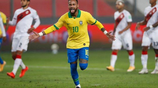 14октября. Перу— Бразилия— 2:4. Неймар. Фото Twitter