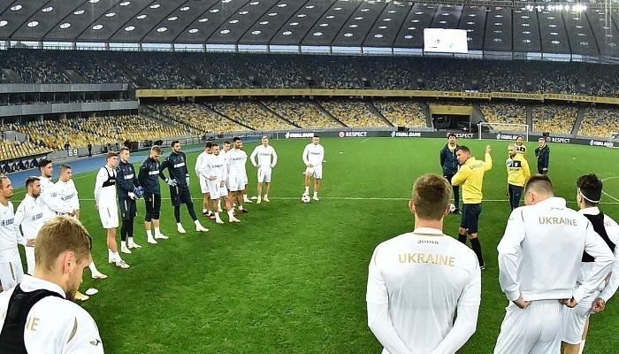 Установка Андрея Шевченко перед игрой против Испании. Фото Twitter