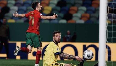 Португалия без Роналду разгромила Швецию, Англия проиграла дома Дании
