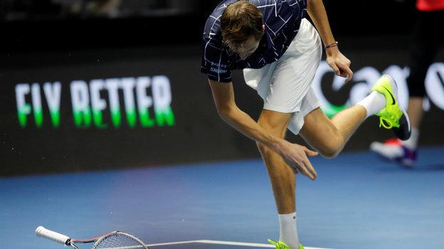 Теннис. St. Petersburg Open. Как вовтором круге сыграли Медведев иРублев